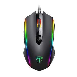 Epeios ゲーミングマウス 光学式 USB有線 マウス 高精度 最大7200DPI 5段調整可能 RGB 8ボタン 左右対称 耐汗&滑り止 PUB inkgekiyasu