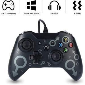 Xbox one コントローラー 有線 pc ゲームコントローラー xbox one 有線コントローラー ゲームパッド PC適応 振動機能搭載 Xbo|inkgekiyasu