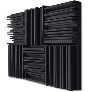 TroyStudio 吸音フォーム - スタジオ発泡パネル - 広帯域吸音材 - 周期的溝構造 - 300 X 300 X 50 mm、6枚パック ( inkgekiyasu