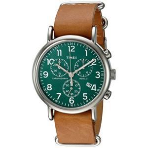 Timex ウィークエンダー クロノグラフ 40mm 腕時計 タン/ダークグリーン inkgekiyasu