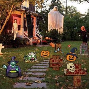 CINECE ハロウィン 庭園 ラベル ガーティー マーカー 飾り付け 雰囲気作り Halloween (タイプ3) inkgekiyasu