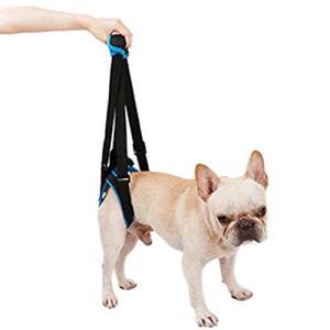 犬用歩行補助 犬の介護用品ハーネス 足腰の弱くなった老犬に 障害犬 欠陥犬 介護 散歩用 登山用 運動用 後足用 (S)|inkgekiyasu