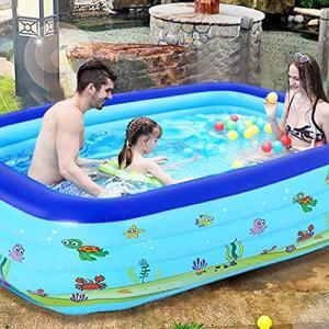 superjunior子供用プール ビニールプール 大型 水遊び 親子遊び スイミング 空気入れ必要 家庭用プール 幼児用プール ファミリプール 折り|inkgekiyasu