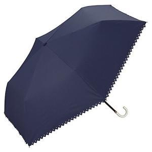 ワールドパーティー(Wpc.) 日傘 折りたたみ傘 ネイビー 50cm レディース 傘袋付き 遮光ピンストライプヒートカット ミニ 801-343 N inkgekiyasu