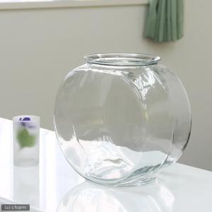 おしゃれなガラス製金魚鉢 太鼓鉢 大(7.6リットル)|inkgekiyasu