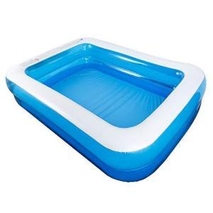 262cm プール 家庭用 大型 ビニールプール 四角 オーバルプール 子供用 ベビープール 水遊び 2-3人 レジャープール ジャンボプール ペット|inkgekiyasu