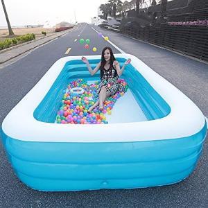 子供用プール ビニールプール 大型 水遊び 親子遊び スイミング 空気入れ必要 猛暑対策 家庭用プール 幼児用プール ファミリプール 安心安全な 頑丈|inkgekiyasu