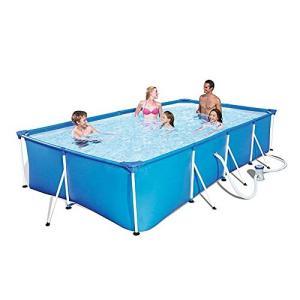 redleafjp フレームプール 大型 ファミリープール ビニールプール 赤ちゃん プール 大型プール ボックスプール 水遊び 猛暑対策 空気入れ不|inkgekiyasu