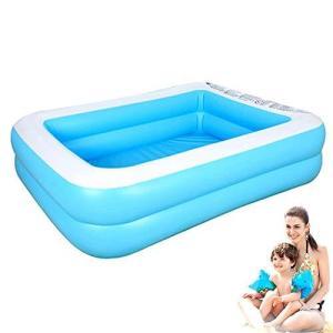 子供用プール 大型 子供・大人 ビニールプール ファミリープール 水遊び 猛暑対策 スイミング 空気入れ必要 家庭用プール 屋内用 お庭 折りたたみ|inkgekiyasu