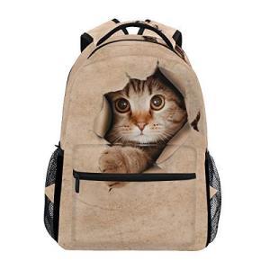 GORIRA(ゴリラ)リュックサック 高校生 可愛い 大容量 キッズ 通学 面白い ねこ 猫柄 リュック レディース おしゃれ 大人 防水 キャンバス|inkgekiyasu
