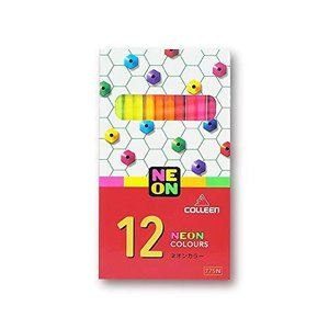 コーリン鉛筆 775六角 11色紙箱入り蛍光色鉛筆 775N-12 inkgekiyasu