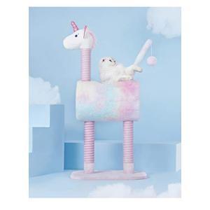 猫 おもちゃ キャットタワー かわいい ユニコーン 猫 つめとぎタワー 子猫 ペット用品 タワー キャット おしゃれ 省スペースねこ おもちゃ 快適|inkgekiyasu