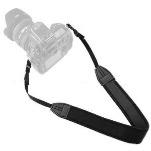 カメラストラップ 一眼レフ ミラーレス シンプル 黒 Canon Nikon OLYMPUS SON...