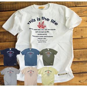 Tシャツ 半袖 メンズ This is the life  Tシャツ  ロゴ アメカジ ブランド