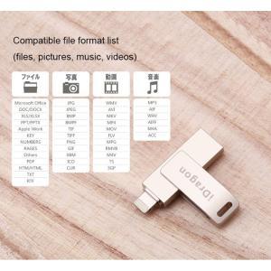 iPhone USBメモリ フラッシュ ドライブ 2-in-1 32gb iDragon 容量不足解消 アイフォン Windows PC MAC 対応 inkoukoku 03