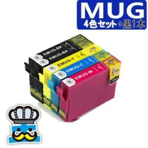 プリンターインク エプソン MUG 4色セット +黒1本  MUG-4CL 互換インク マグカップ EPSON MUG-BK MUG-C MUG-M MUG-Y 対応機種 EW-052A EW-452A|inkoukoku