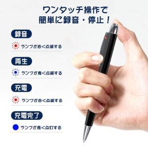 ボイスレコーダー ペン型  高音質 16GB 15時間連続録音 小型 軽量 ボールペン型 ICボイスレコーダー 大容量 高性能 inkoukoku 03