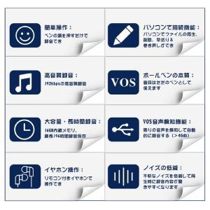 ボイスレコーダー ペン型  高音質 16GB 15時間連続録音 小型 軽量 ボールペン型 ICボイスレコーダー 大容量 高性能 inkoukoku 04