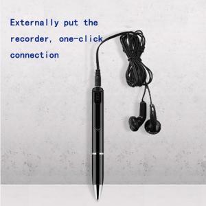ボイスレコーダー ペン型  16GB 190時間録音 高音質 小型軽量 ICボイスレコーダー 大容量 ボールペン型|inkoukoku|05
