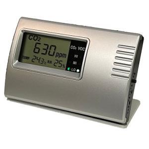 二酸化炭素 濃度計測器 二酸化炭素モニター (温度・湿度・VOCs) NDIR Co2モニター Co...