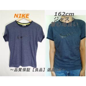 NIKE霜降りリンガーTシャツ☆ブランドグレイシンプル品質良いL(150〜160ぐらい)|innocence