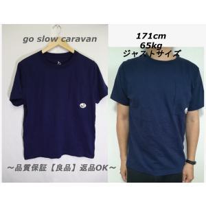 go slow caravanポケットTシャツネイビー☆アウトドア重宝3|innocence