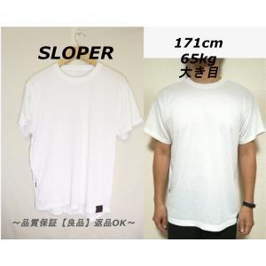 SLOPER裾ポケットTシャツ/シンプルホワイトアウトドア高品質L|innocence