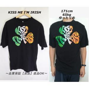 KISS ME I'M IRISH Tシャツ/USA古着アイルランド一点物ブラックM|innocence
