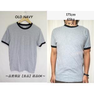 OLD NAVY霜降りリンガーTシャツ/USA古着ブランドグレイS|innocence