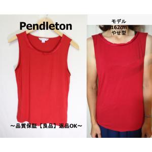 Pendletonタンクトップレッド/ペンドルトン老舗良品M|innocence