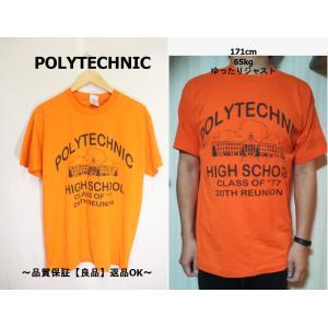 POLYTECHNIC両面プリントTシャツ/USA古着オレンジカレッジ一点物L|innocence