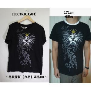 ELECTRIC CAFEプリントTシャツ/USA古着ブラックデザイン良い♪|innocence