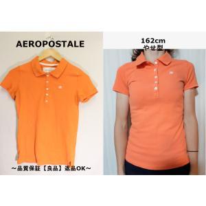 AEROPOSTALEオレンジポロシャツ/USA古着M|innocence
