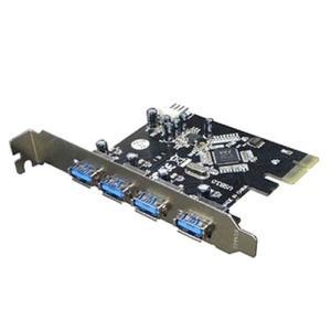 USB3.0 増設4ポート PCI-Eカード デスクトップ用 PCIE-USB3/4【メール便可能】|innovate