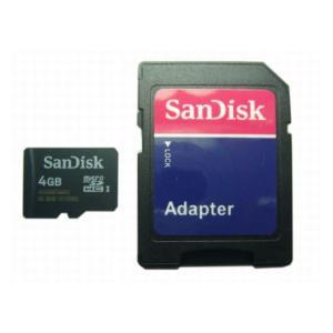 SDアダプタ付 microSDHC4GB Class4 UH...
