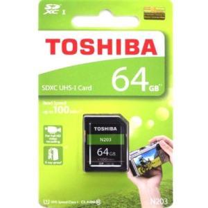 信頼のある東芝製 SDXCカード 64GB 型番:THN-N203N0640A4 最大100MB/秒...