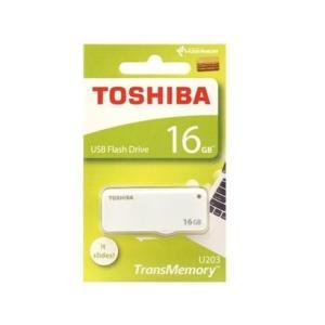 東芝 USBフラッシュメモリー 16GB スライド式 THN-U203W0160A4【メール便送料無料】