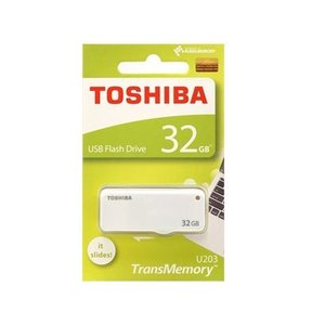 東芝 USBフラッシュメモリー 32GB スライド式 THN-U203W0320A4【メール便送料無料】