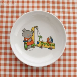 こぐまちゃん メラミンプレート 平皿 菜皿 日本製 小 うんてんしゅ【メール便不可】