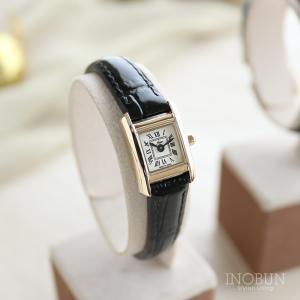 fleur フルール Stock 腕時計 日本製 ゴールド/ブラックレザー【メール便不可】 inobun