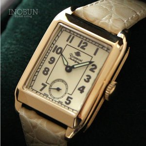 ロゼモン 腕時計 Nostalgia Rosemont N002-YW BWH ゴールド/ホワイト(ベルト)【メール便不可】 inobun