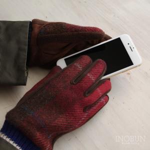 COOP グローブ Harris Tweed ハリス・ツイード スマホ対応 手袋 CHECK RED...
