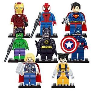 (即日配達)レゴ互換◆アベンジャーズ アイアンマン ミニフィグ(ミニフィギュア) 8体セット LEGO(レゴ) 互換 並行輸入