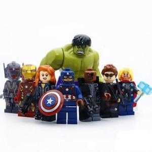 (即日配達)レゴ互換◆アベンジャーズ ミニフィグ(ミニフィギュア) 8体セット LEGO(レゴ) 互換 並行輸入