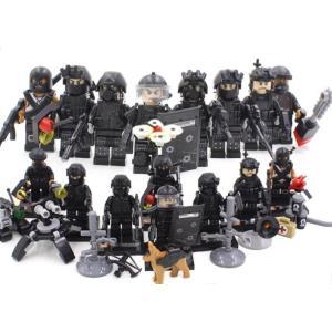 (即日配達)レゴ互換◆特殊部隊 SWAT 大量武器パーツ ミニフィグ 8体セット☆LEGO(レゴ) 互換 並行輸入