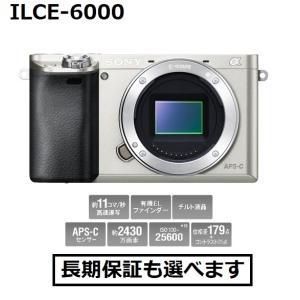 ソニー デジタル一眼カメラ ILCE-6000 (S)シルバー色 α6000 ボディ 新品|inouedenki
