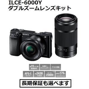 ソニー デジタル一眼カメラ ILCE-6000Y (B)ブラック色 α6000 ダブルズームレンズキット|inouedenki