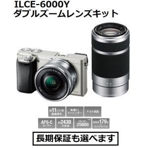 ソニー デジタル一眼カメラ ILCE-6000Y (S)シルバー色 α6000 ダブルズームレンズキット|inouedenki
