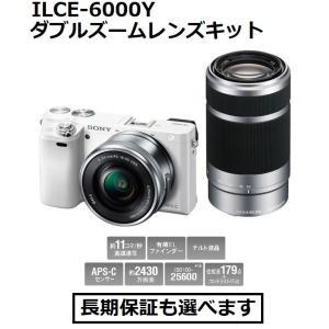 ソニー デジタル一眼カメラ ILCE-6000Y (W)ホワイト色 α6000 ダブルズームレンズキット|inouedenki