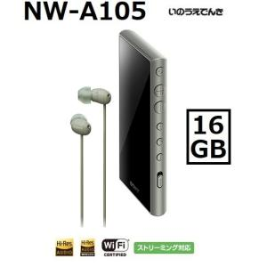 ソニー ウォークマン A100シリーズ NW-A105HN (G) アッシュグリーン 16GB イヤホン付属モデル|inouedenki